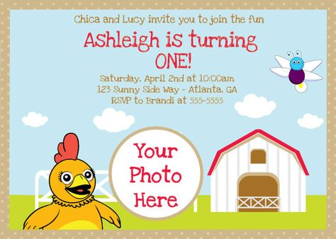 Sprout (with Chica and Lucy) Digital Invitation