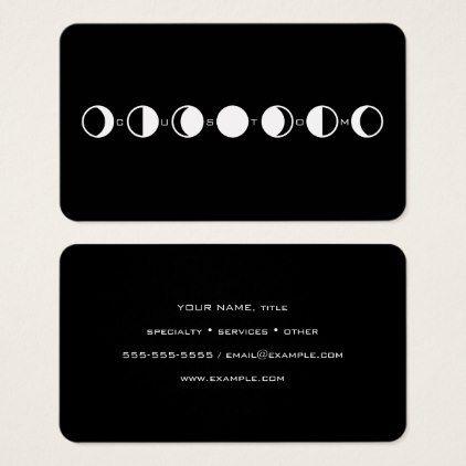 Moonphrase Cool Modern Moon Phase Business Card Zazzle Com Business Card Minimalist Cool Stuff Business Card Modern