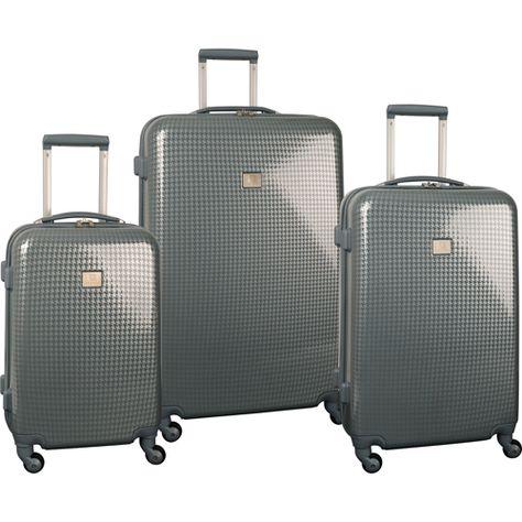 Rose Gold Color Option Travelers Club Luggage KN-67903-RG kensie 3 Piece Light Metallic Design 4-Wheel Luggage Set