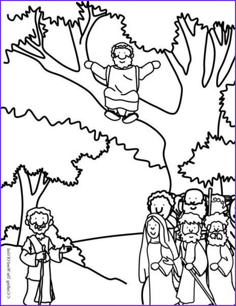 45 Unique Photography Of Zaccheaus Coloring Page Jesus Coloring