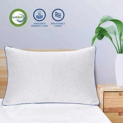 Ntcoco Pillow Shredded Memory Foam Bed Pillows For Sleeping With