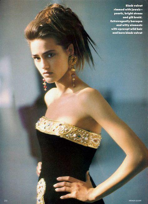 Fashion 80s 1980s Vogue Arthur Elgort