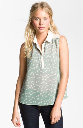Chloe K Sleeveless Shirt (Juniors) available at #Nordstrom