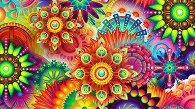 Colorful Divinity Chromebook Wallpaper Vector Flowers Pattern Wallpaper Wallpaper