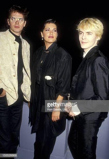 Musicians John Taylor And Nick Rhodes Of Duran Duran And Singer