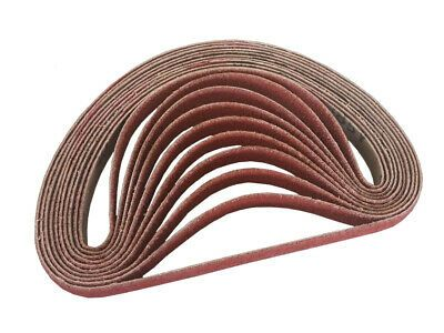 3 4 Inch X 20 1 2 Inch Ceramic Cloth Sanding Air File Belts 10 Pack 40 Grit Things To Sell Ceramics Sanding