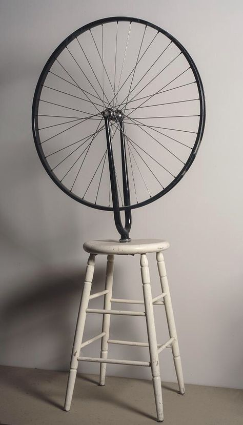 [Marcel Duchamp] Ruota di bicicletta, 1913 - Bicycle Wheel is Duchamp's first readymade, a class of objects he invented to challenge assumptions about what constitutes a work of art.