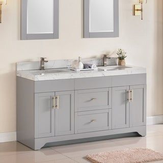 60 Inch Double Sink Contemporary Bathroom Vanity Mahogany Finish