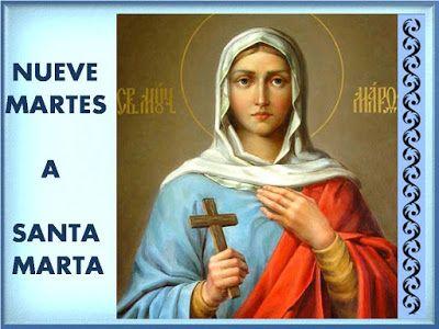 9 Martes A Santa Marta Para Peticiones Muy Dificiles Imposibles Oraciones A Los Santos Oraciones Martes Santo Oración Milagrosa