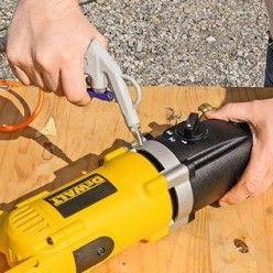 Utiliser Une Carotteuse Pour Percer Dans Les Materiaux De Construction Materiaux De Construction Materiaux Construction