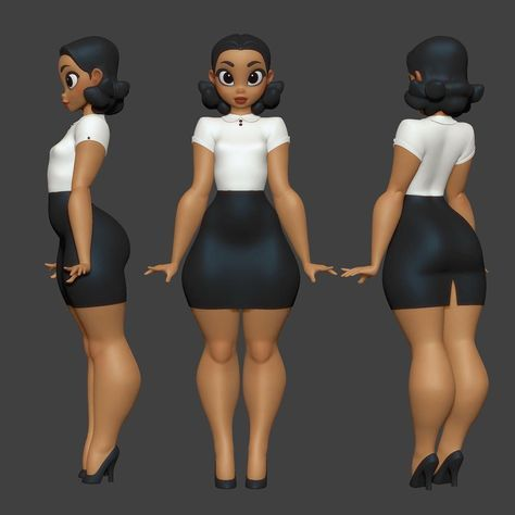 3д девушка модель работы
