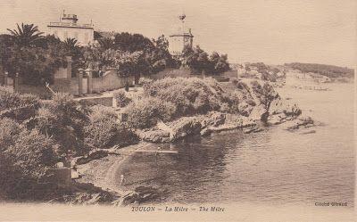 Une Des Plages De La Mitre A Toulon Dans Le Var Toulon Carte Postale Cartes Postales Anciennes