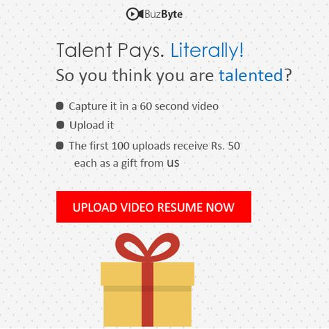 Make your 60 second video resume!! Earn Rs50 at your account - how to upload a resume