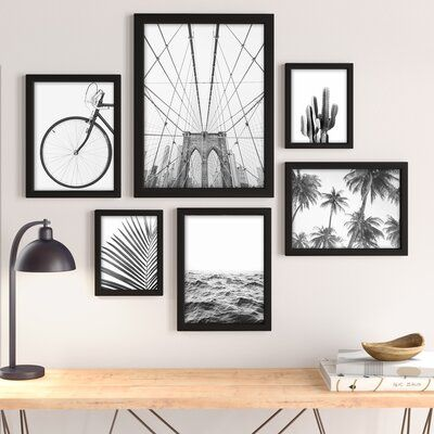 By Sisi And Seb 6 Piece Picture Frame Photographic Print Set Gallery Wall Art Set Small Wall Art Art Gallery Wall