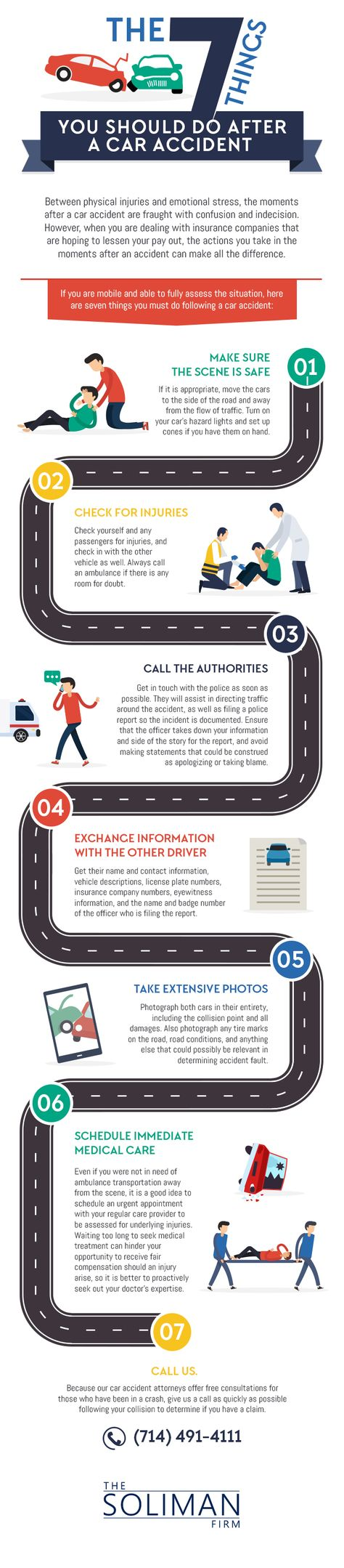 The 7 things you should do if you are in a car accident