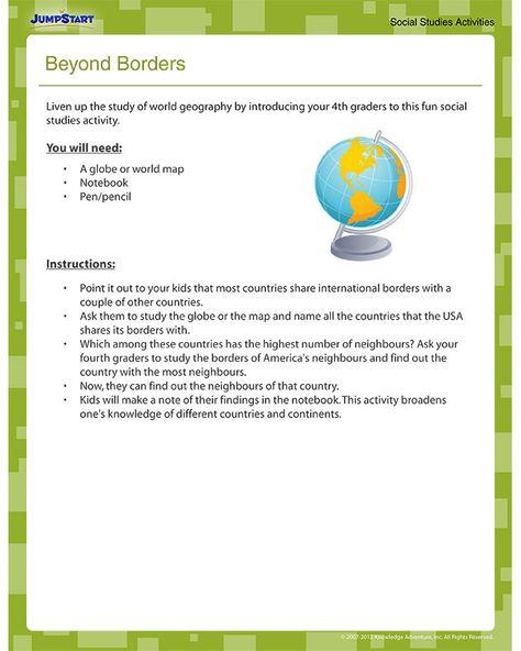 Beyond Borders - Free Printable Geography Worksheet What ...