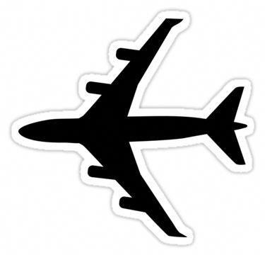 Airplane Plane Sticker Paratirecordativo Tumblr Stickers