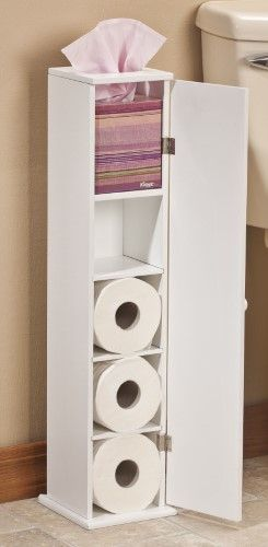 Toilet Tissue Tower By Oakridgetm White Instead Of Toilet Paper It Could Be Femini Narrow Bathroom Storage Toilet Paper Stand Narrow Bathroom Storage Cabinet