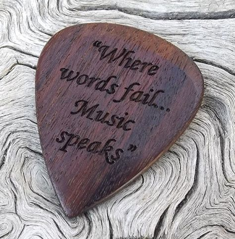 Handmade Premium Laser Engraved Guitar Pick by NuevoWoodcrafts  How about a case to go with it?  www.beaumontmusic.co.uk
