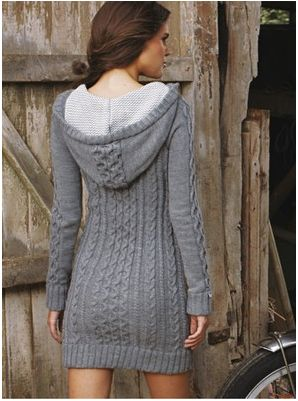 Superdry Knitted Knit Riding Hooded Sweater Dress Long Hoodie ...