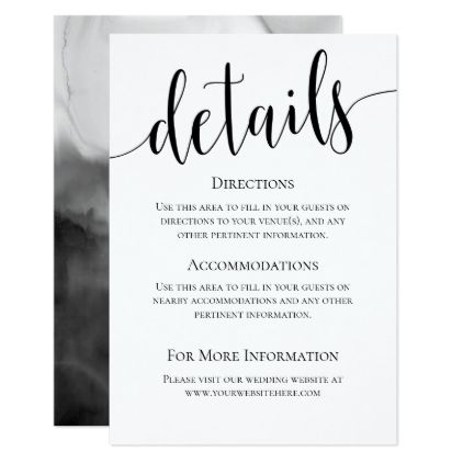 Modern We Do Wedding Details Card Zazzle Com With Images