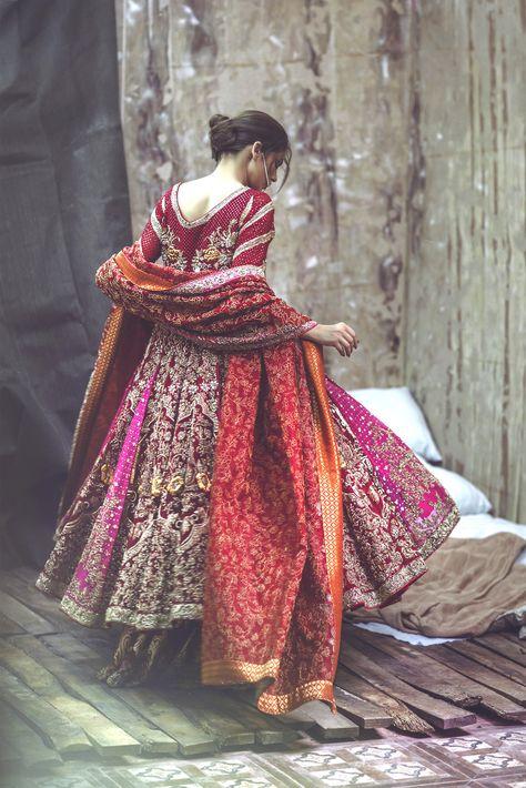 High Fashion Pakistan — Zarmisha Dar's 'Husn e Kham' Bridal Collection,.