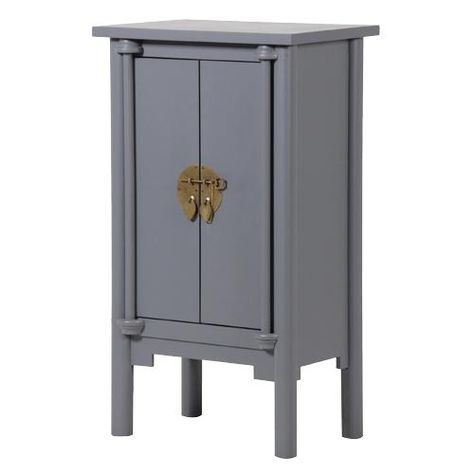 Grey Chinese Style Cabinet 145 00