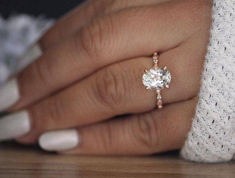 Dream Engagement Rings, Rose Gold Engagement Ring, Engagement Ring Settings, Diamond Wedding Bands, Oval Wedding Rings, Moissanite Wedding Rings, Rose Gold Bands, Unique Vintage Engagement Rings, Wedding Ring Gold