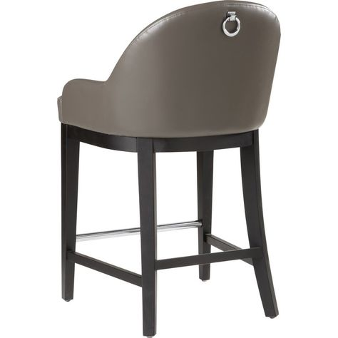 Share and Save $5 Off Any Order Over $99. (excludes a few products) Sunpan Haven Counter Height Stool in Grey Leather #dynamichome