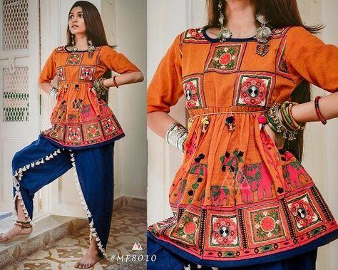 MF Dholida Series Designer Gujarati People Festive Pure Khadi Fabric 2018 Navratri Special Attractive Traditional Look Female Fashion Kediya Collection Single Wholesale Supplier from Surat - Full Catalog Price - INR