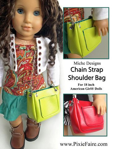 "Chain Strap Shoulder Bag 18"" Doll Accessories"
