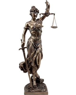 Lady Justice With The Snake At Her Feet Greek Statue Lady Justice Statue