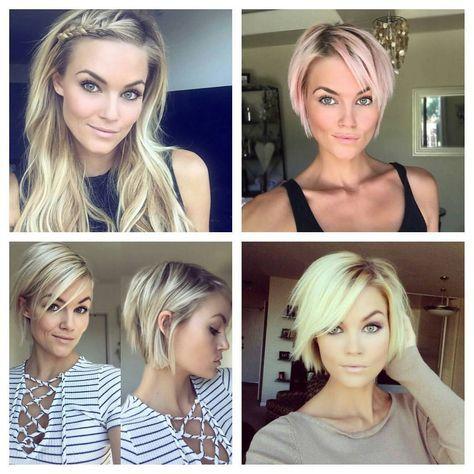 Beautiful Krissafowles And Her Path From Long To Short Hair Pixie Kratkovlasky Shorthair Blon Long To Short Hair Short Hair Styles Pixie Short Blonde Hair