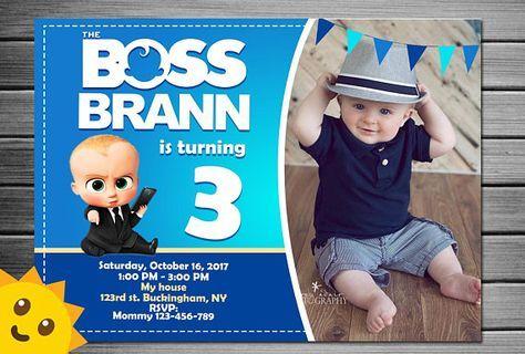Boss Baby Invitation Boss Baby Birthday Invitation Boss Baby Party Boss B Baby Birthday Invitations Baby Birthday Party Invitations Boy Birthday Invitations