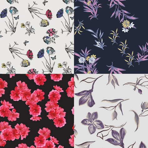 FASHION VIGNETTE: TRENDS // PATTERN BANK - WOMENS' CATWALK PRINT/PATTERN HIGHLIGHTS - PRE FALL 2016/17. Sparse florals.