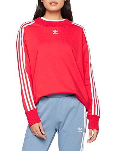 adidas Crew Sweater Sudadera Mujer Rojo (rojrad) 42 ...