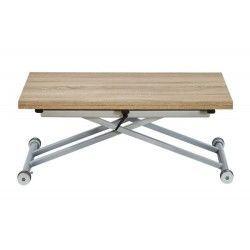 Table Basse Relevable Extensible Papier Decor Chene Naturel Domy En 2020 Table Basse Table Basse Relevable Extensible Table Basse Relevable