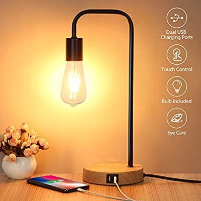 Touch Control Table Lamp Usb Desk Lamp 3 Way Dimmable Modern
