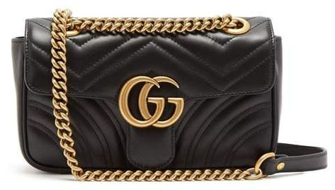 14347b2d73c Gucci - Gg Marmont Mini Quilted Leather Cross Body Bag - Womens - Black