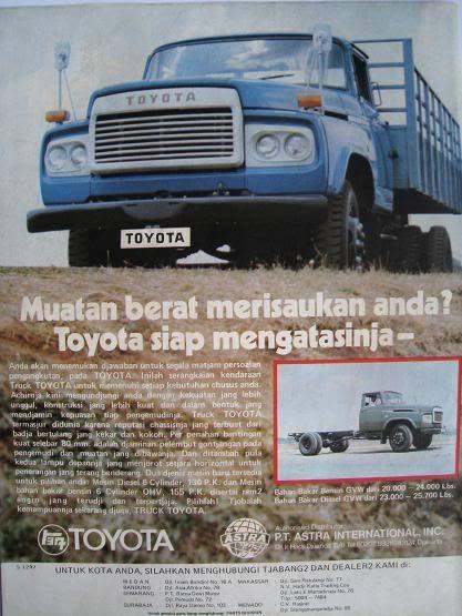 Iklan Tojota Buaja Versi Indonesia 1968 Periklanan Mobil