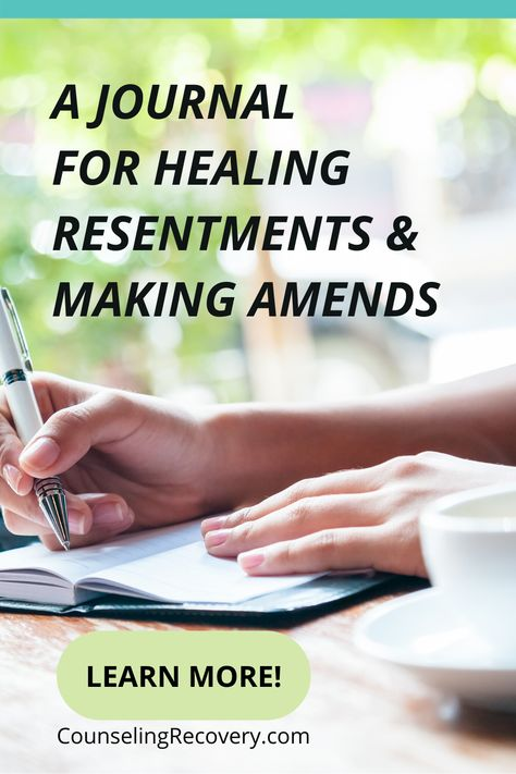 When you let go of resentments, relationships heal. Learn my step by step process for healing resentments and making heartfelt amends. This also covers making amends to yourself, identifying patterns, and resolving the issue without needing the other person to change. Sign up with your name and email address to get my guide plus a short video for helpful tips and detailed instructions. #resentment #anger #relationships #marriage #forgiveness Relationship Hurt, Let Go Of Anger, Writing Therapy, How To Control Anger, Mental Health Journal, Therapy Worksheets, Grief Support, Good Marriage, Conflict Resolution