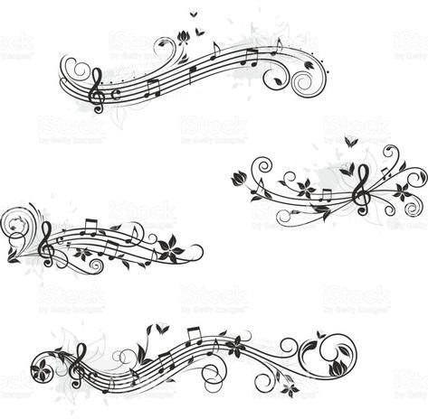 Music set of design elements royalty-free stock vector art