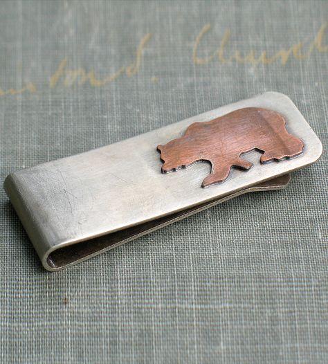 Copper Bear Money Clip.