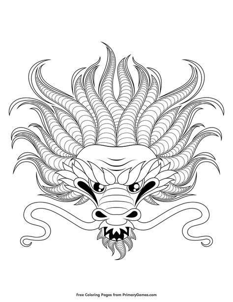 Dragon Head Coloring Page Free Printable Ebook Dragon Coloring