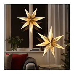 You can either hang the shade from ceiling as pendant or put it on the table lamp base for use as table lamp. Create your own personalized pendant or table lamp by combining the shade with STRÅLA cord set or base. Gives a warm, cozy glow and spreads the holiday atmosphere in your home.