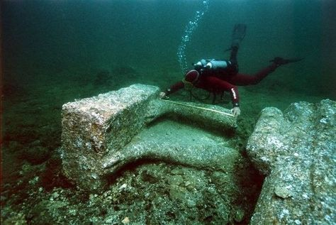 Best Lost Egyptian City ThonisHeracleion Images On Pinterest - Explorers discover ancient 1200 year old egyptian city