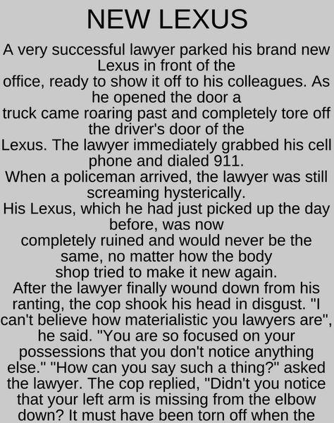 New Lexus Funny Story Funny Stories New Lexus Work Humor