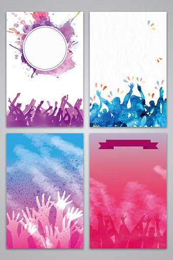 Youthful Vibrant Watercolor Smudge Poster Design Background