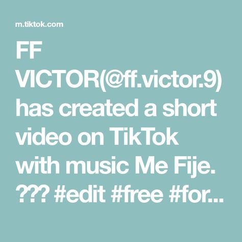 FF VICTOR(@ff.victor.9) has created a short video on TikTok with music Me Fije. 🛐❤️ #edit #free #foryou #parati #fypシ #freefire #xyzbca #viral