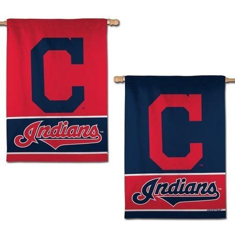 Cleveland Indians Flag 2 Sided Block C Logo Vertical Banner